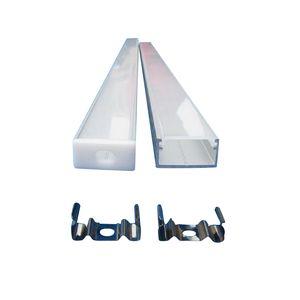 Canales de aluminio en forma de U de 9x18 mm con difusor, tapas finales y clips de montaje Canales de tira de LED Luz de tira de LED