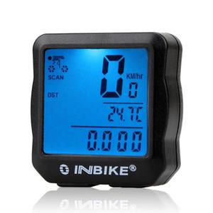 INBIKE Wired biciclette contachilometri impermeabile LCD retroilluminato digitale di riciclaggio della bici del tachimetro del calcolatore Vestito per maggior parte delle moto
