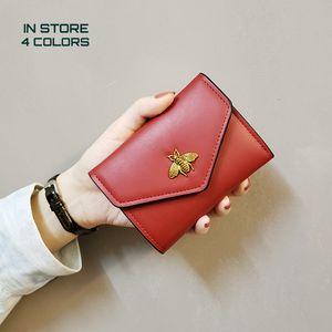 Factory Supply Lady Honey Bee Wallet Wallet Accessories Billfold Short Coin Purse Women Portable Purse Money Bag