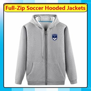 Bordeaux Hoodie do inverno Jaquetas Full-Zip Jacket Travel Bordéus com capuz casaco de futebol do futebol jaqueta com capuz treinamento de corrida jaquetas masculinas
