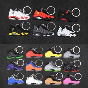 brinquedos Sneaker Chaveiros bonito mini-Silicone AJ chaveiro tênis de basquete mochila pingente keyring sapatos de força presente criativas chaveiro