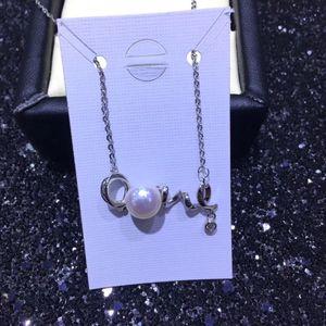 Composant et conclusions du collier de perles LOVE, bijoux, paramètres de collier, montures, pièces pour perles Akoya Edison, corail, jade