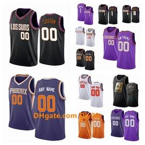 Пользовательские Phoenix Suns Джерси Devin 1 Букер Джош 20 Jackson T. J. 12 Warren 8 Kaminsky III Swingman баскетбольные майки фиолетовый белый Bla