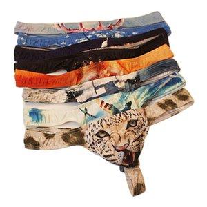 Homens Nikini Sexy Jockstrap Gay Underwear Thong animal Imprimir Jock Strap Jockstraps Cuecas Sissy Tangas Hombre Sexy corda G Cueca Gay Penis