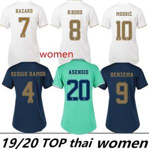 Frauen Trikots 2019 Real Madrid Home # 7 HAZARD # 11 BALE Fußball Trikots 19/20 weibliche Fußball Trikots angepasst Frauen Fußball Uniformen On Sale