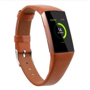 Gerçek Gerçek Deri İzle Band İçin Fitbit Şarj 3 Bant Bilek Kayışı bilezik Akıllı Watch Bilezik
