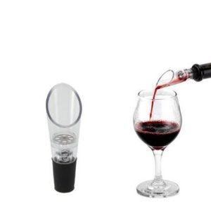 Factory Price DHL Free Shipping Red Wine Funnel Bottle Pourer, Silicone Rubber Wine Aerator Decanter Pourer