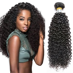 Pamina Hair 8A Unprocessed Brazilian Kinky Curly Hair Weave Extension Brazilian Virgin Human Hair Machine Double Weft Natural Color Can Be D