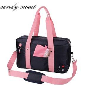 Borse per studenti giapponesi Jk Uniform Handbag Marca Borse a tracolla donna Solid High School Studenti Bookbag Messenger Borse da viaggio J190704