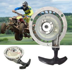 1pc mini aleación Tire del arrancador de retroceso Parte de inicio para ATV 49CC bici del bolsillo Minimoto Quad arranque de retroceso Parte Aluminio Plata