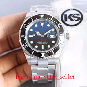 Versión KS Top Quality Mens Relojes para hombre de lujo Soltero 126660 126603 D-Blue Dial Ceramic Bezel 2836 Movimiento automático Impermeable 100m Deporte Relojes de pulsera