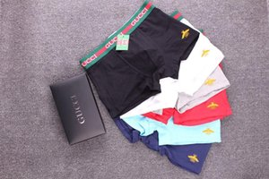 With Box Designer Boxer Gay Brief For Man Under Panties Sexy Underwear Mens Boxers Cotton Underwears Shorts Fish Pattern Male rehe retgwrgwr