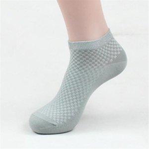 Solid Mens di colore dei calzini Casuale Lunghezza Plaid Calzini Primavera Designer Men Calzino Pantofole sport respirabili Stretch