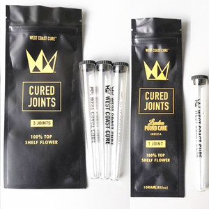 West Coast Cure 3PCS 1PCS CURED JOINTS BAG +PLASTIC TUBES Packaging 2020 moonrock Preroll Pre-rolled tube packaging