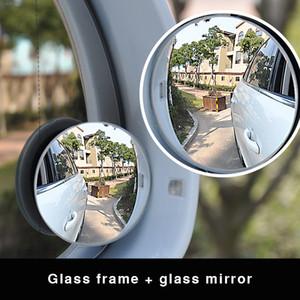 Universal 2pcs / lot carro Retrovisor HD 360 graus Safety Wide Angle Blind Spot Auto espelho retrovisor Estacionamento Rodada Convex Acessórios