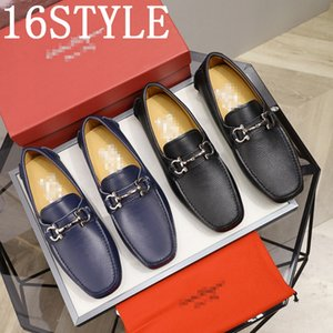 New 2020 Genuine Leather Men's Shoes Fashion Trend Driving Shoes Slip on Men Loafers luxurious Brans Men Flats Soft Moccasins US6-11