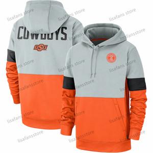 Erkek Oklahoma Eyalet Kovboylar Rekabet Therma Performans Kazak Kapüşonlular 2020 Futbol University College Spor Sweatshirt Boyut S-4XL