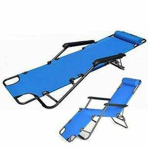 Plegable al aire libre de descanso de la playa de Sun Patio Chaise silla de salón de la piscina del césped Ocioso