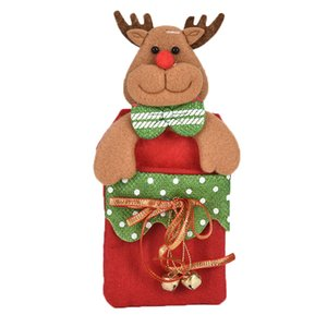 Christmas Candy Gift Bags For Child Kids Candy Packaging Pendant Santa Sacks Christmas Candy Storage Box Christmas Decorations