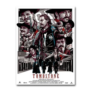Tombstone Canvas Film Poster Classic Movie Wall Art Print Painting 20x30 60x90cm Decorative Picture Wallpaper Living Room Decor