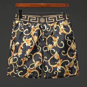 2019ss nuevo diseñador de lujo casual pantalones cortos para hombres patrón de serpiente bordado de flores pantalones cortos de natación para hombres high street fashion Medusa beach pants