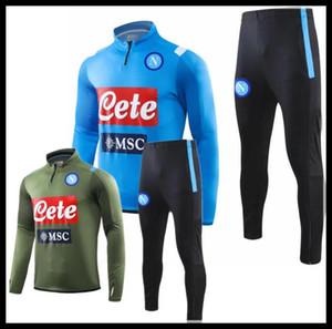 19 20 Napoli traje de chaqueta Formación survetement fútbol Jersey 2019 tracksuits Nápoles MERTENS fútbol chándal conjunto de chaqueta de chándal