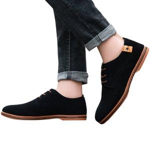 YOUYEDIAN Casual Chaussures En Cuir Hommes À Lacets À Coudre Mâle Business Flats Doux Hommes Chaussures Oxford Pour Zapatos Hombre # 3