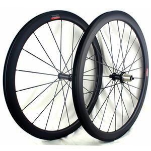 الطريق الكربون عجلات 33 43 55 65 ملم الفاصلة 700C لايحتاج الكربون استعداد دراجة العجلات 3K مراكز مات Powerway R36