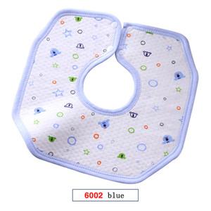 Bavaglino neonato con Massaggiagengive neonato Bambino Triangolo Cartoon Bib tovagliolo della saliva 360 gradi della saliva impermeabile cotone Telo Ottagonale