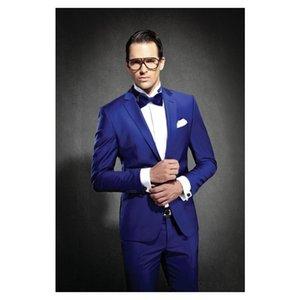 Royal Blue MenTuxedos Groom Weddin Slim Fit Best man Suit Notch Lapel Groomsman Men Wedding Suits Bridegroom (Jacket+Pants+Tie ) J692