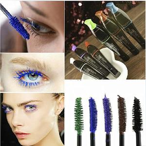3D Fiber Long Black Brown Color Lash Eyelash Natural Mascara Impermeable Alargamiento Mascara para ojos Herramienta de maquillaje profesional