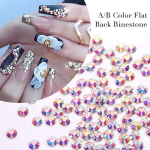 1 Bag 3D Flat Back Rhinestone Decoration Nail Decoration DIY Mixed Size Nail Art Decorations