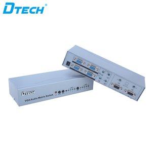 Articolo caldo 350MHZ HD 1080P 4 * 2 4 ingressi 2 uscite 6 Porta VGA spina video interruttore matrice audio telecomando e gioco VGA swticher