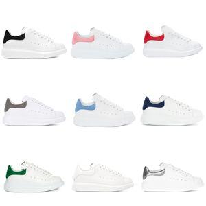 Womens Branca Mens Plataforma Couro Flat Shoes Casual Shoes Lady Muffin Sports Sneakers Homem de fitness Casual sapatos partido Wedding Shoes