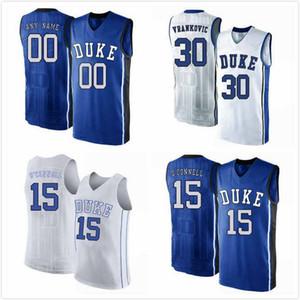 Jack White Jersey 41 anos Alex O'Connell 15 Antonio Vrankovic 30 Justin Robinson 50 Joey Baker 13 Duque Blue Devils 2019 Jerseys Costurado S-3XL