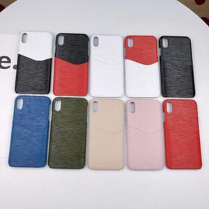 Elegante funda de teléfono móvil de medio paquete de ondulación de agua para iPhone6S 7 / 8Plus XR XS MAX con inserto de tarjeta para Samsung S8 S9 S10