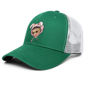 Fashion Bad Bunny Music Man Unisex Baseball Cap Fitted Team Trucke Hats Logo Middle finger Poster No Perdamos Tiempo Pink Rabbit Ear El