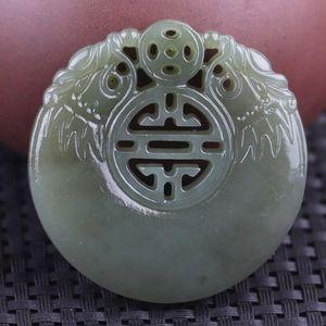 colliers pendentif de jade vert Hetian naturel collier de jade lotus creux marque hommes femmes bijoux Ajouter un certificat jadéite