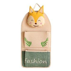Kapı Cep Telefonu Çift Cep Karikatür Wrap Pamuk Ve Keten Güzel 20HD C1 arkasında Bag Asma Fox Kedi Desen