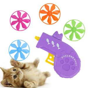 Cadeau Accueil drôle de chien Chasing exercice ABS interactif de formation pour animaux de compagnie Flying Disc dépiste Cat Toy Set Color Style aléatoire