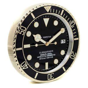 Творческое Большие настенные часы металла Роскошные 3d часы Wall Home Decor настенные часы Тихий Luminous календарь Relogio De Parede Gift L034 T200616