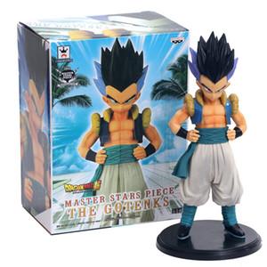 Dragon Ball Z Gotenks Estilo de pie Figura de acción DBZ Goten Trunks Fusion Goku Super Saiyan Colección Modelo Juguetes 19cm