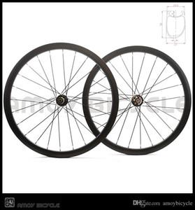 와 700C 디스크 도레이 T700 전체 탄소 도로 자전거 디스크 클린 처 바퀴 차축 6 볼트 탄소 비대칭 자전거 바퀴 스루