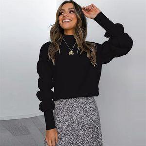 MIARHB femmes noires Pull à col roulé 2019 d'hiver Casual High Street tricot à manches longues Tops Femme Mode loose overs top
