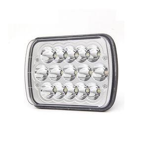 Retângulo LED faróis, H6054 5x7 Led Farol 7x6 45W Hi / Low selado feixe H4 plug Farol Fit para Jeep Wrangler