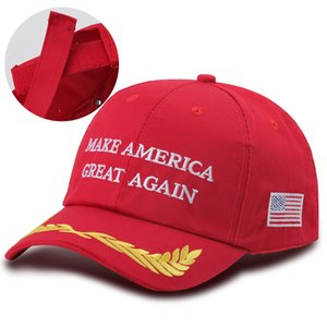 Wholesale Trupmp Election Hat Make America Great Again Embroidered Baseball Letter Pattern Neutral Flag Dome Cap 60pcs+ Free shipping DHL