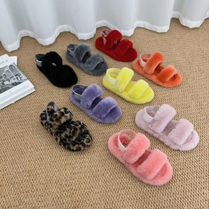 Women Furry Slippers Australia Fluff Yeah Slide Designercasual Shoes Boots Fashion Luxury Designer Women Sandals Fur Slides OH Yeah Slippers
