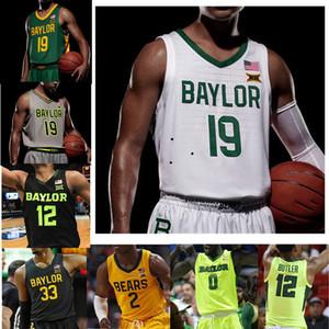 Para hombre de baloncesto de Baylor lleva los jerseys Mateo Mayer Jersey Macio Teague davion Mitchell Jonathan Tchamwa Tchatchoua jerseys cosido personalizada
