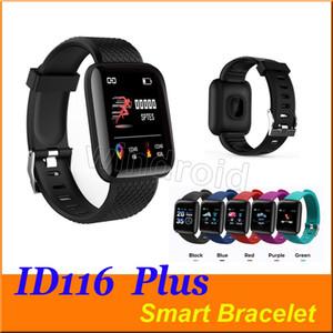 Fitness Tracker ID116 116 PLUS Bracciale intelligente con frequenza cardiaca intelligente cinturino pressione sanguigna Wristband PK ID115 PLUS 116 PLUS F0 più economico