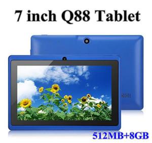 7 Inch Tablet PC Q88 Tablets Android4.4 WIFI Allwinner A33 Quad Core 512M 8GB 1024*600 HD Dual Camera 3G 2800mAh Google Play Store